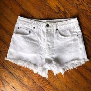 LF CarMar white denim shorts size 27